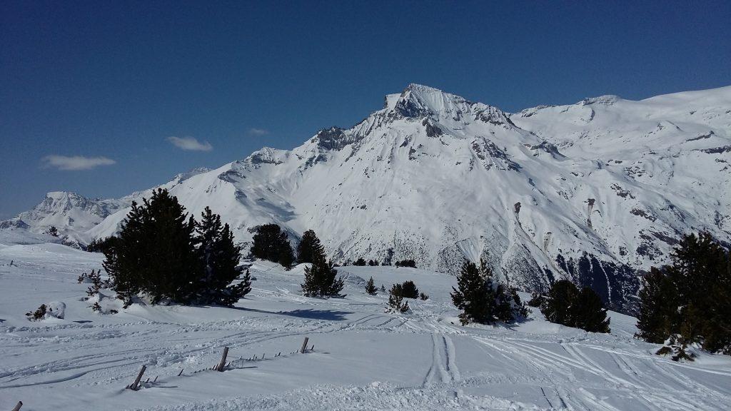 La Dent Parrachée depuis les pistes de Val Cenis Termignon