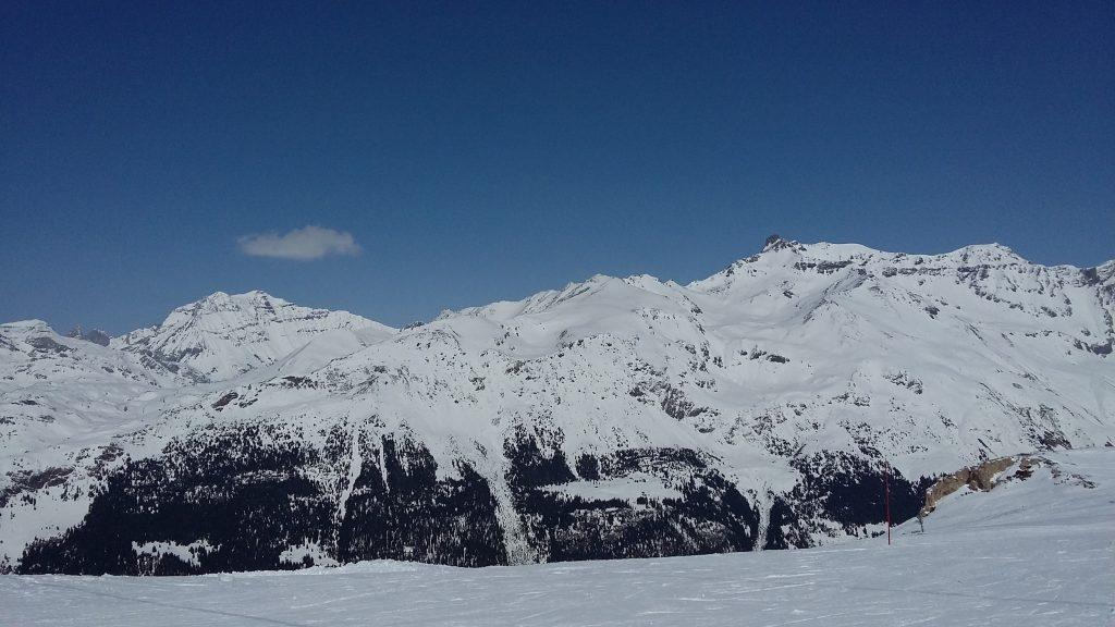 Les sommets de la Vanoise vus depuis les pistes de Termignon