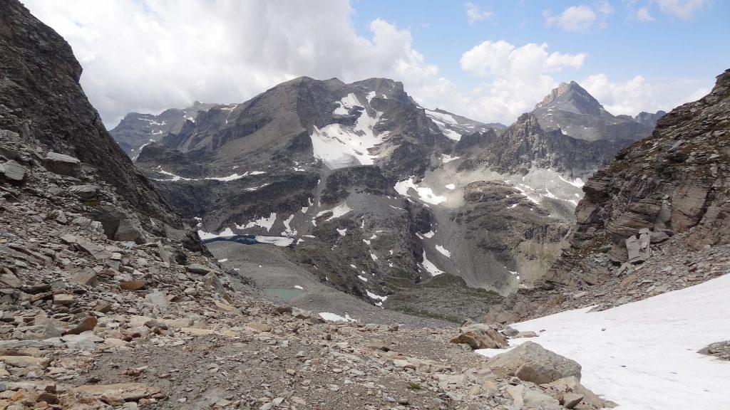 Avant d'arriver au Col d'Agnel, vue d'ensemble du fond du Vallon d'Ambin